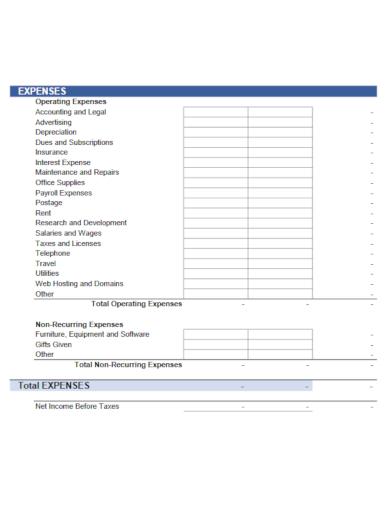 modern business budget template