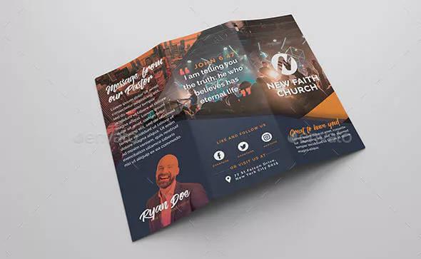 modern church brochure in psd