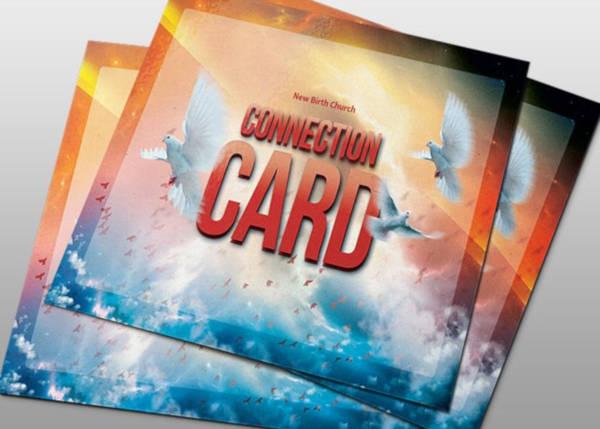 modern church connection card in psd