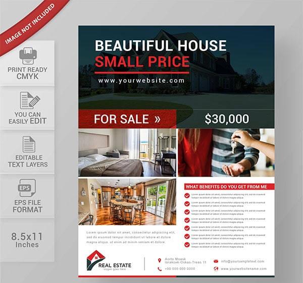 modern commercial real estate flyer