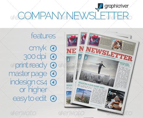 modern company newsletter template