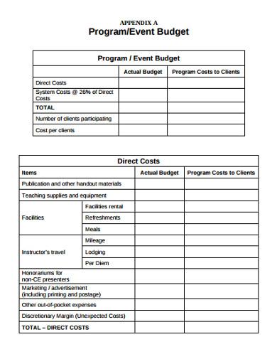 modern event budget template