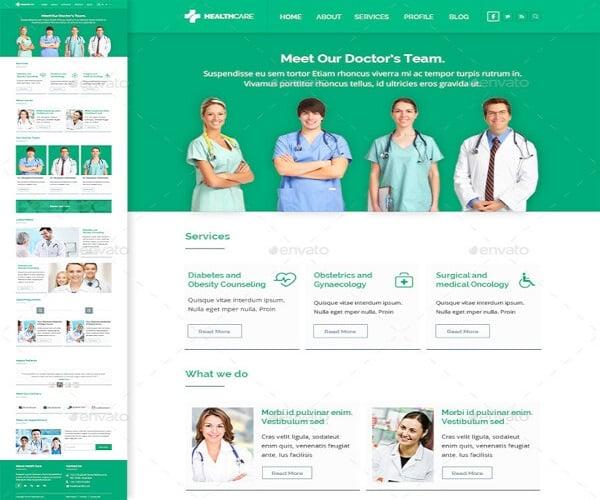 modern healthcare e newsletter template