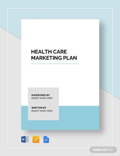 modern healthcare marketing plan template