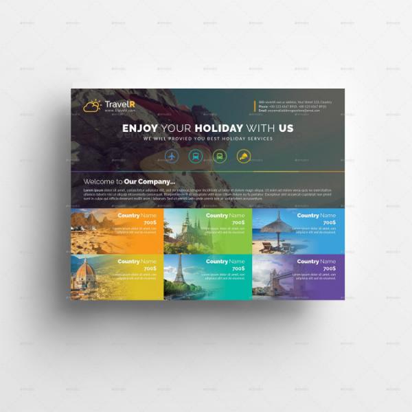 modern holiday travel flyer design