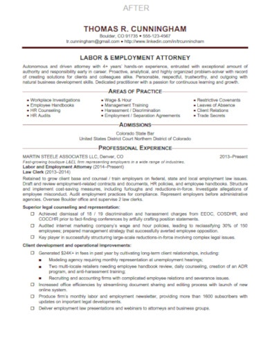 modern legal resume template