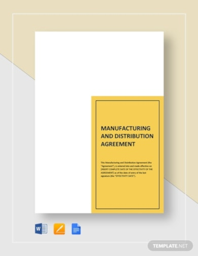modern manufacture and distribution agreement