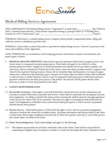 modern medical billing contract template