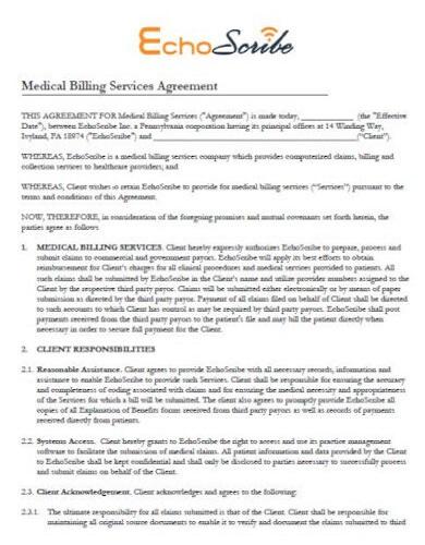 modern medical billing services agreement