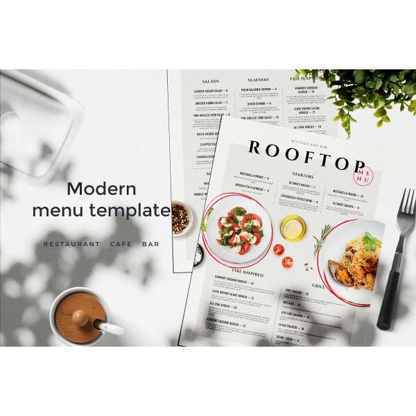 modern menu template1