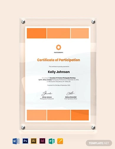 modern photography certificate template1
