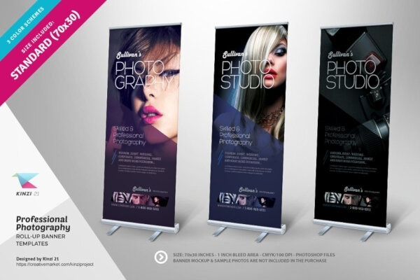 modern photography roll up banners