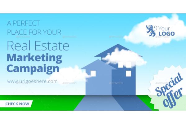 modern real estate facebook ad template