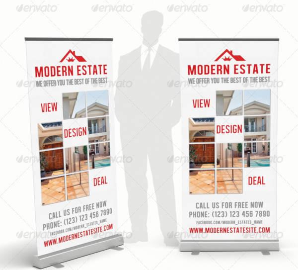 modern real estate rollup banner