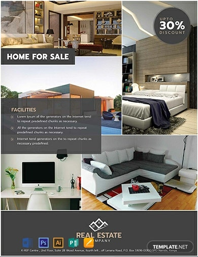 modern real estate sales flyer template