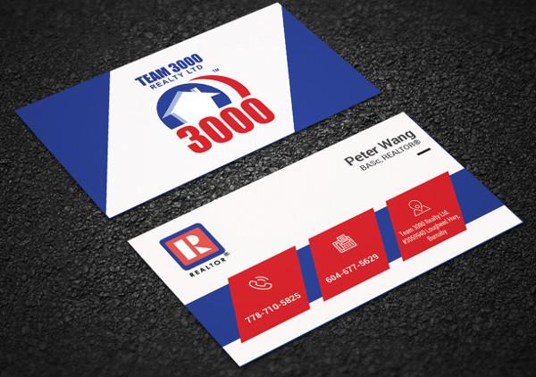 modern realtor business card template