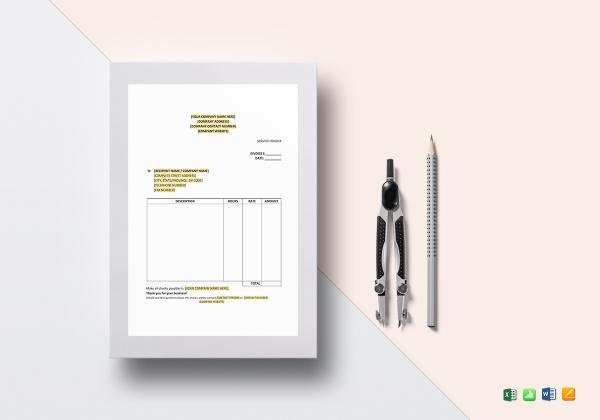 modern service invoice sample