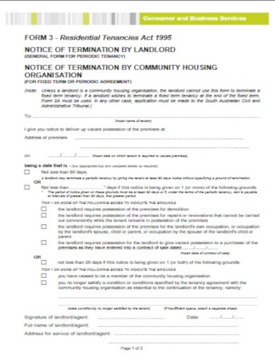 modern tenancy ending notice