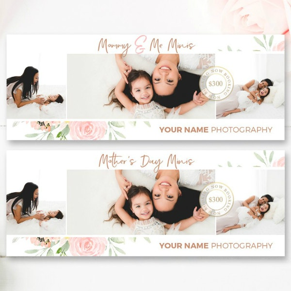 mommys day facebook cover template