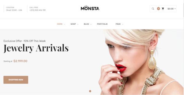 monsta – 80 pre made themes wordpress theme