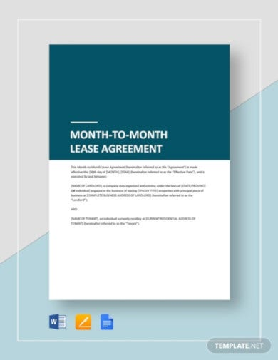 month to month tenant agreement template