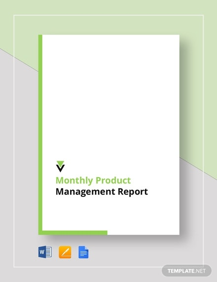 monthly product management report 2