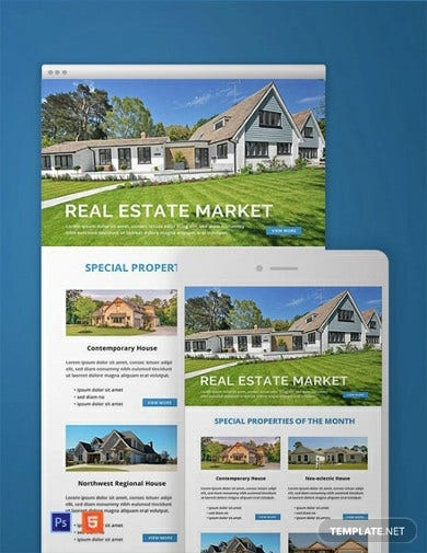 monthly real estate email newsletter template