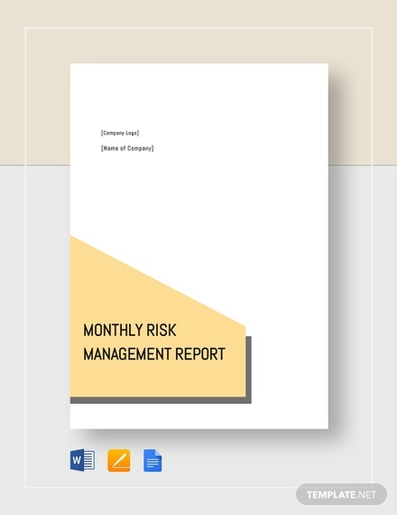 monthly risk management report 6