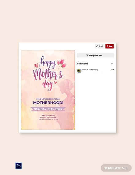 mothers day pinterest pin layout