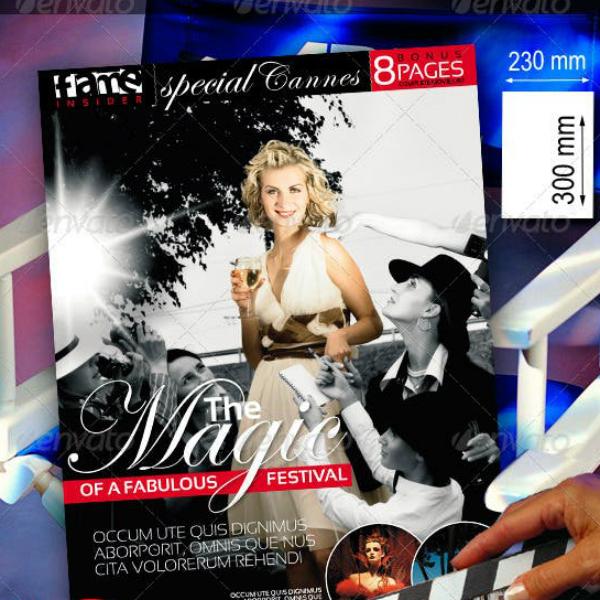 Movie Themed Marketing Leaflet Design