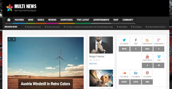 Multinews - BuddyPress and bbPress WordPress Theme