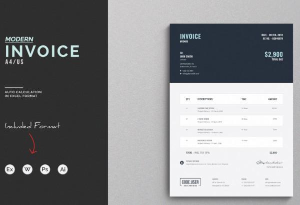 multipurpose creative invoice template