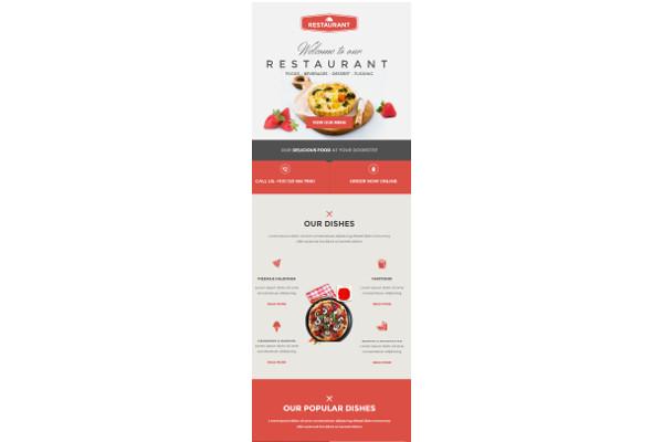 multipurpose food email restaurant