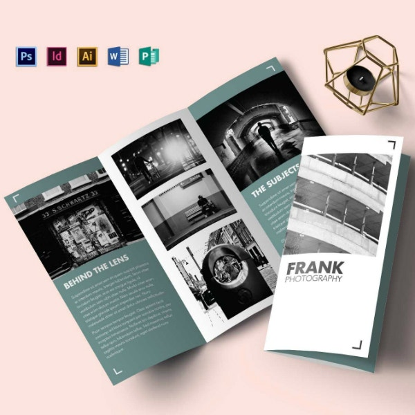 multipurpose portfolio tri fold brochure layout