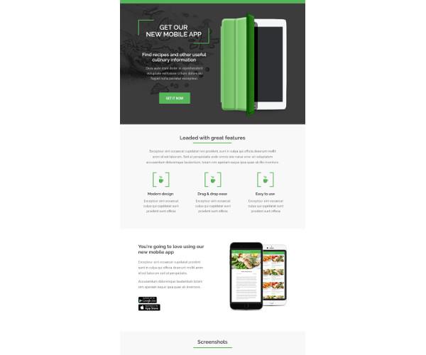 multipurpose restaurant email template