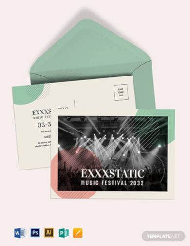 music event postcard template1