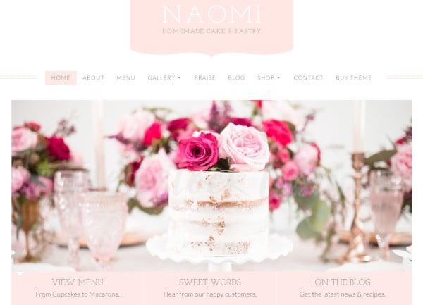 naomi call to action wordpress theme