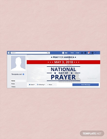 national prayer facebook cover layout