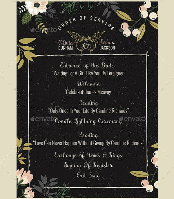 nature wedding invitation and itinerary template pack
