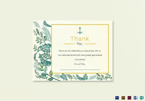 nautical thank you note card template