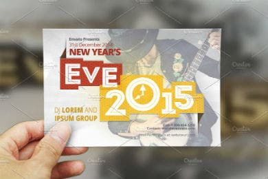new years eve postcard template