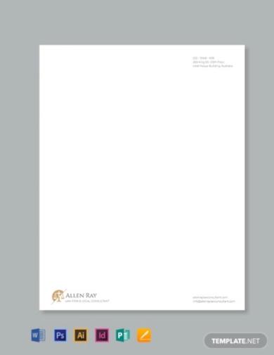 novel legal letterhead template