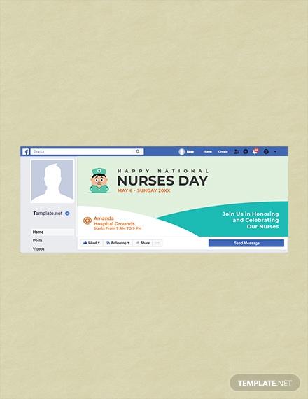 nurses day facebook cover template