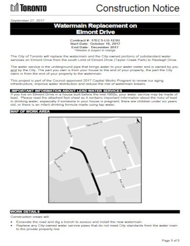 official construction notice template
