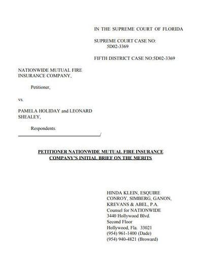 official legal statement template