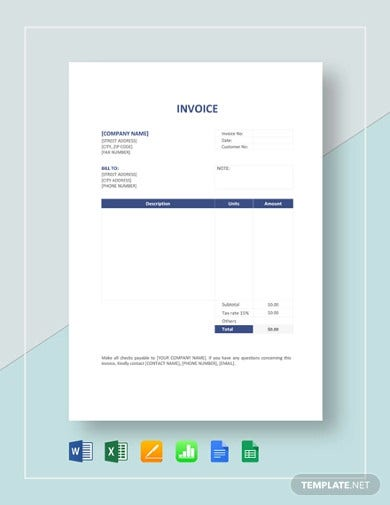 one page service invoice format1