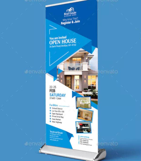 open house real estate rollup banner