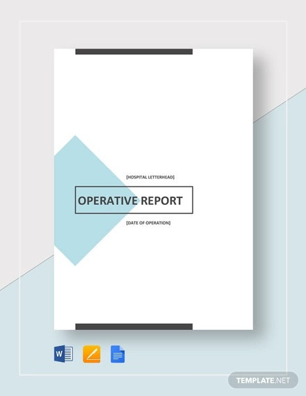 operative report template