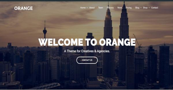 Orange - One Page Bootstrap WordPress Theme