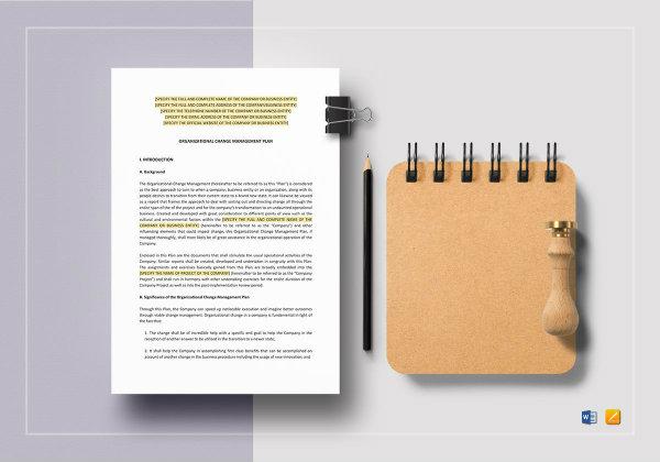 organizational change management plan template1